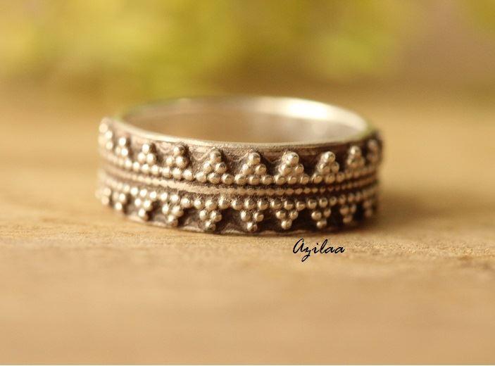 Sterling Silver Artisan Handmade Band Ring Designer Rings For Women