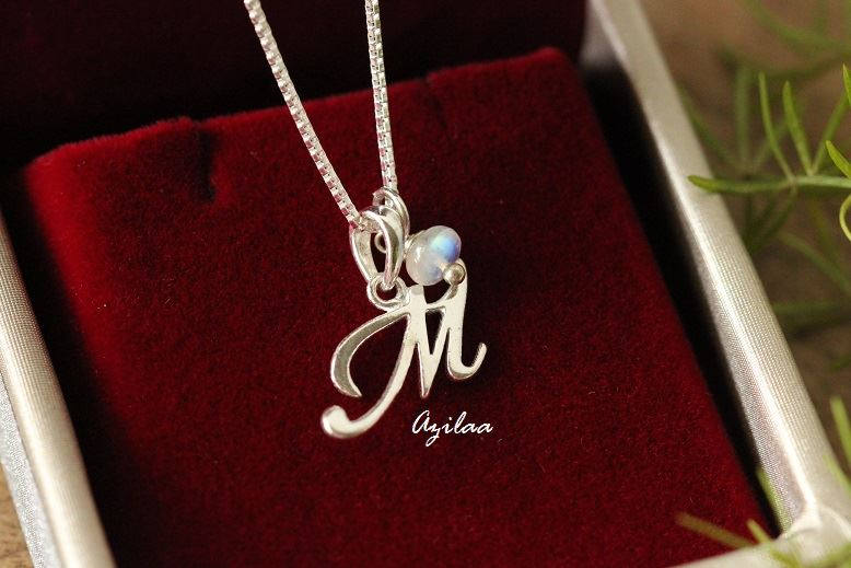 Charm Alphabet M Initial Sterling Silver Moonstone Pendant At 1950 Azilaa Edit your photos and images with adobe photoshop, the best photo and design editor. azilaa