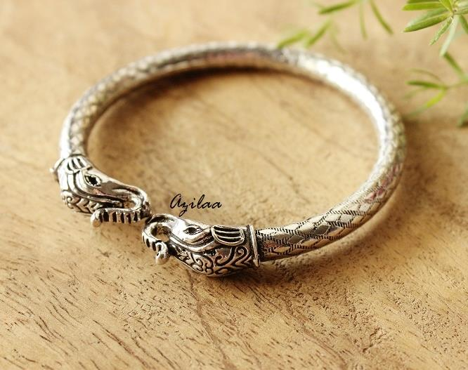 b64cf256bf27 Silver plated bangles bracelet for women at  950
