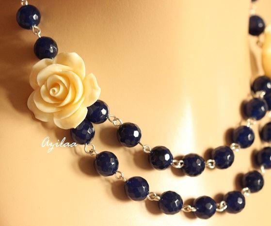 f4d862078 Modern designer Rose handmade necklace at ₹2250 | Azilaa