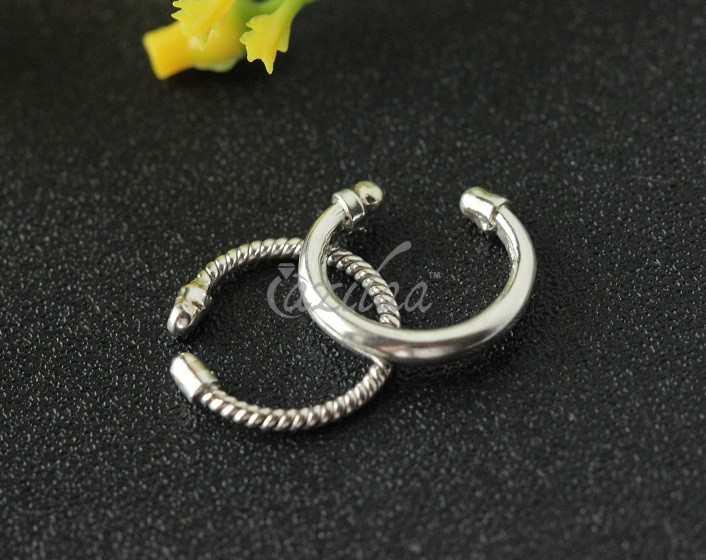 Septum Nose Ring Sterling Silver Artisan Handmade At 1250 Azilaa