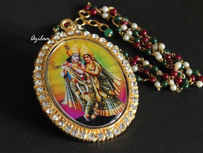 Radha Krishna Gorgeous God Pendant Necklace At ₹750 Azilaa